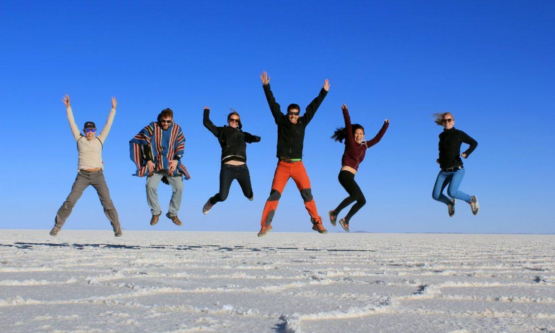 Fun at Salar de Uyuni in Boliva.