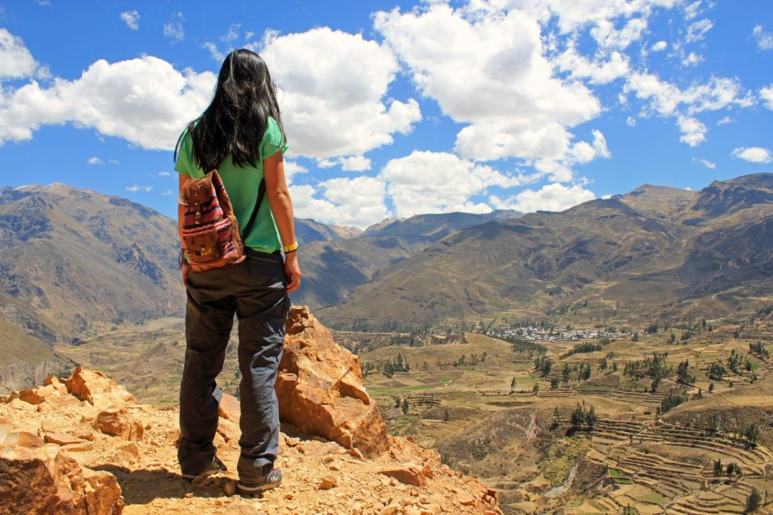 View on Canyon del Colca in Peru