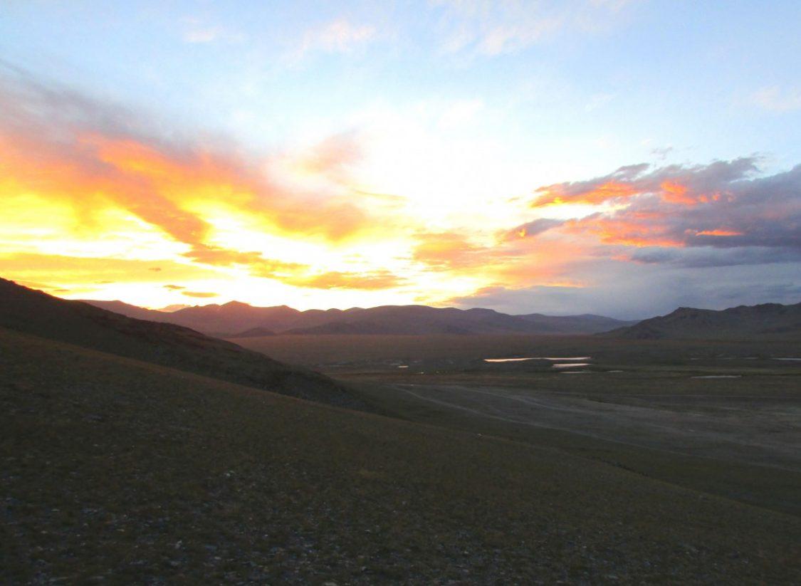 Sunset Kazachstan. ©Britany Robinson.
