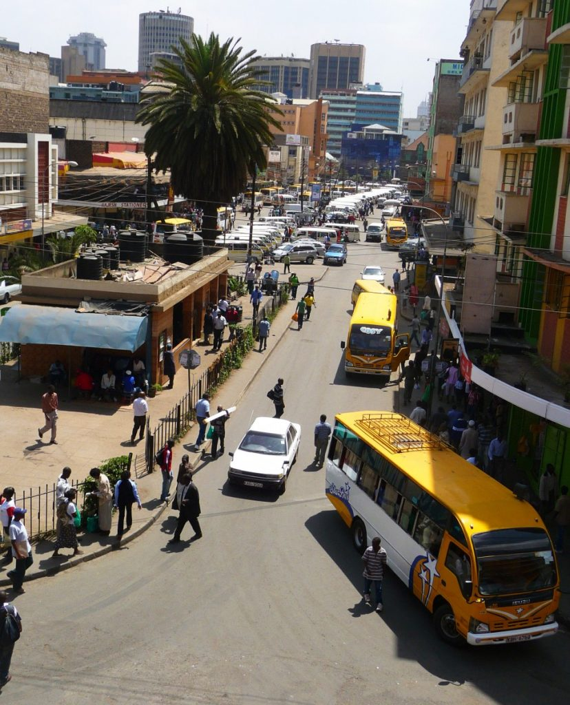 Nairobi downtown. ©Bunch of Backpackers.