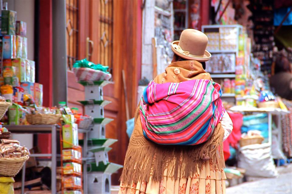 Colorful robes in Bolivia. ©Tapashia.