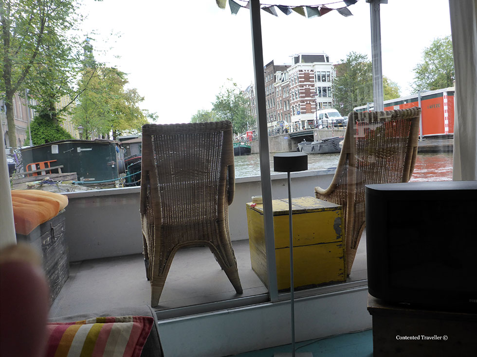 Deck of Amsterdam Houseboat
