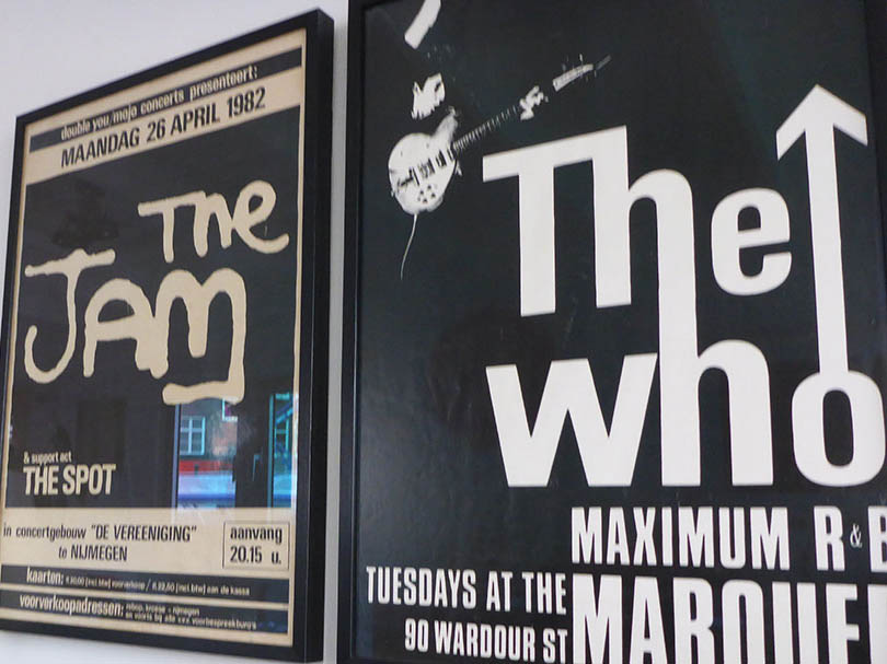 Posters of The Who and The Jam. ©The Contented Traveller.