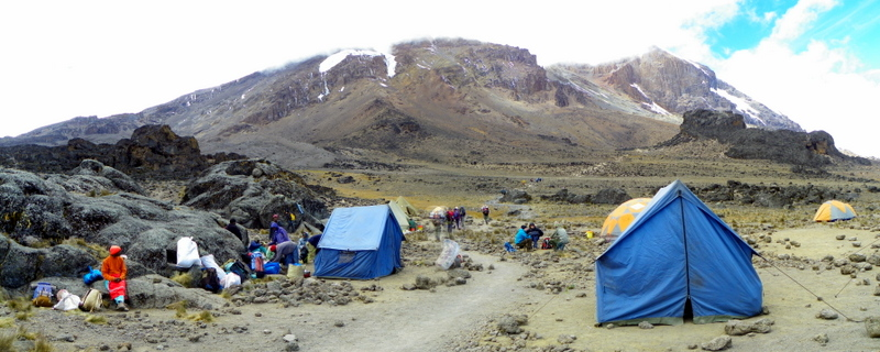 Tents Mt. Kilimanjaro. ©Mapping Megan.