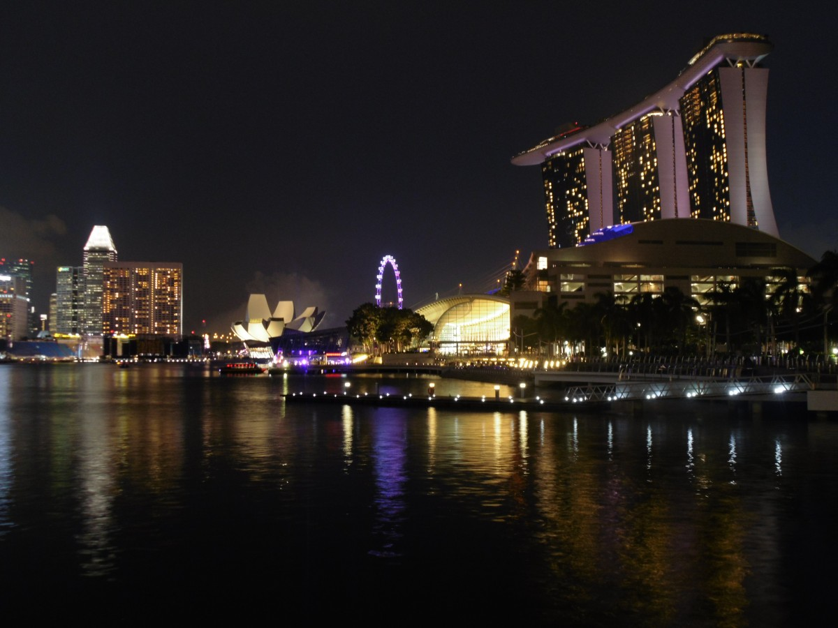 Marina Bay Sands at night. ©Abbi Morrison / Life In A Rucksack