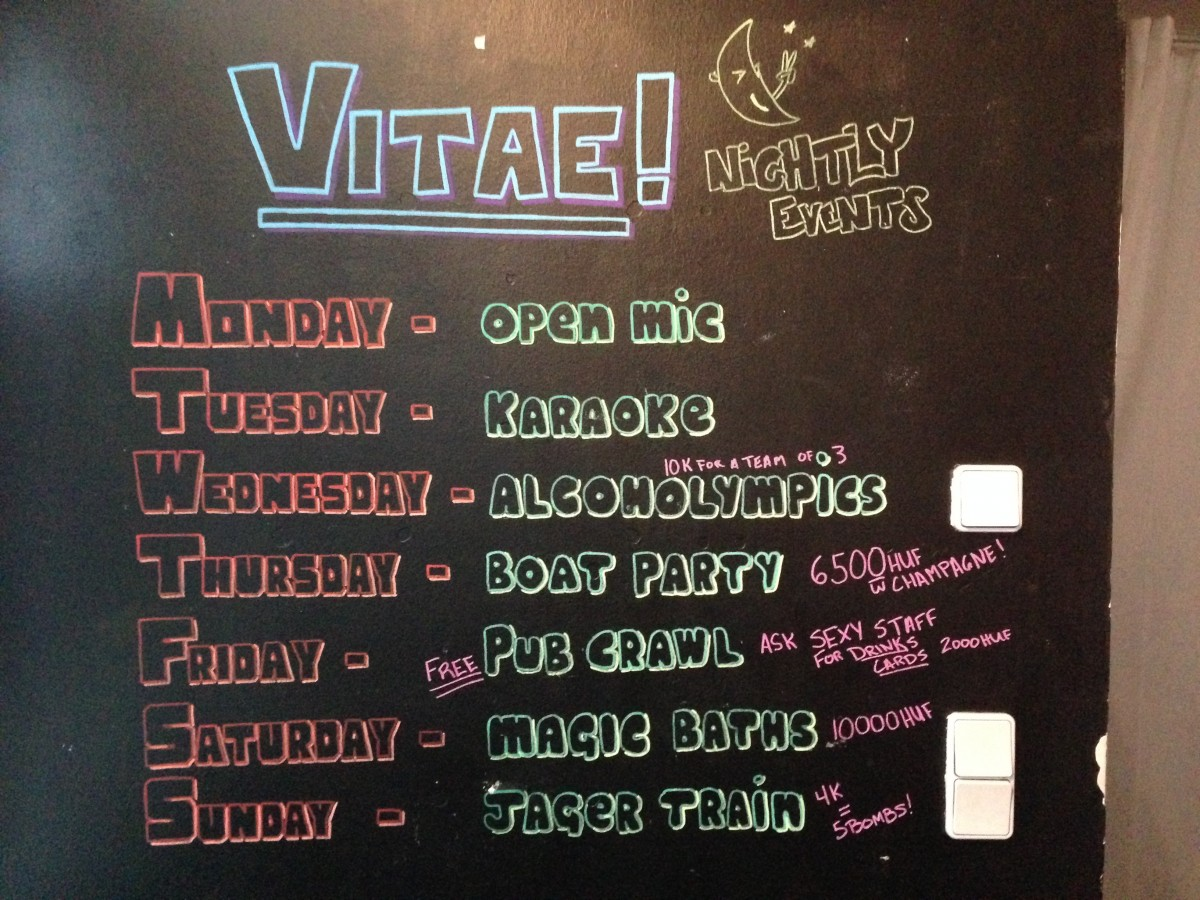 The activities of the Carpe Noctem Vitae hostel in Budapest. There is always a tour you can join!