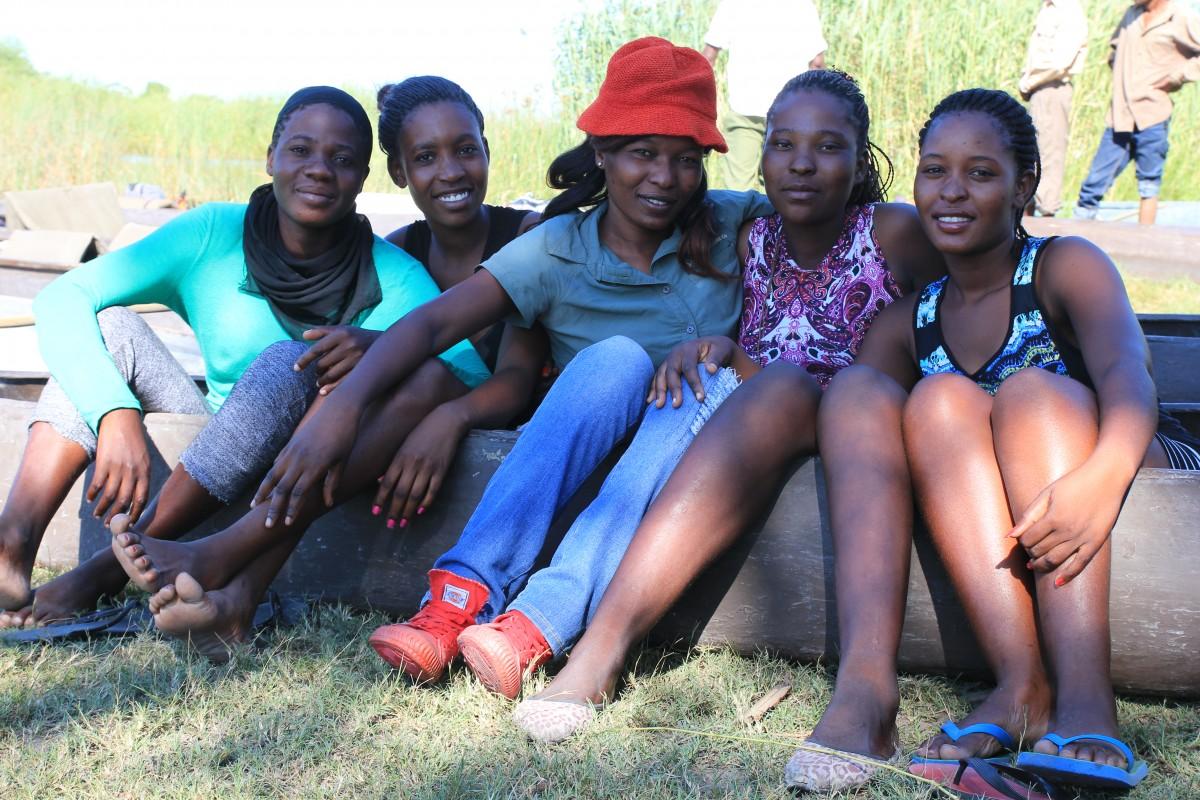 Beautiful smiles of the mokoro ladies of Okavango Delta, Botswana. - Bunch of Backpackers