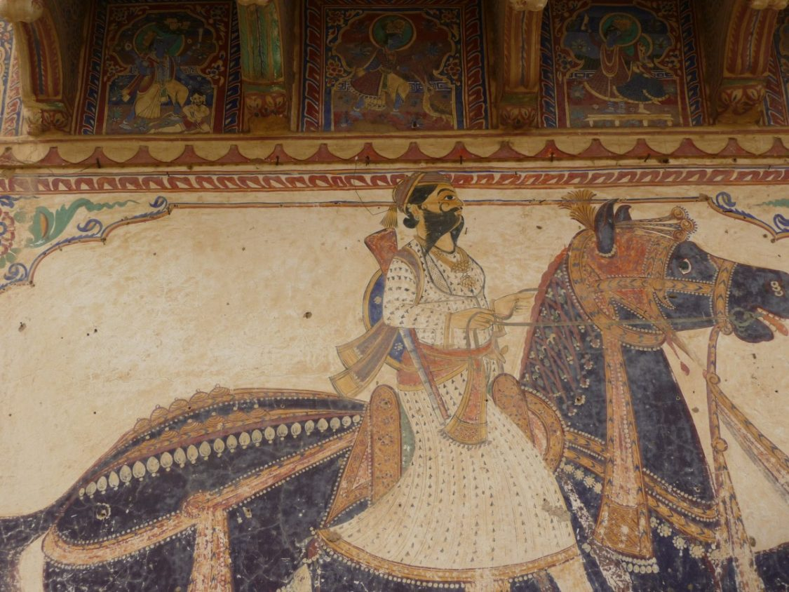 Beautiful frescoes - Places to visit in Shekhwati by Bunch of Backpackers.