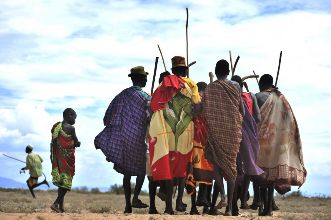 Turkana people dancing. ©Joost Reintjes.