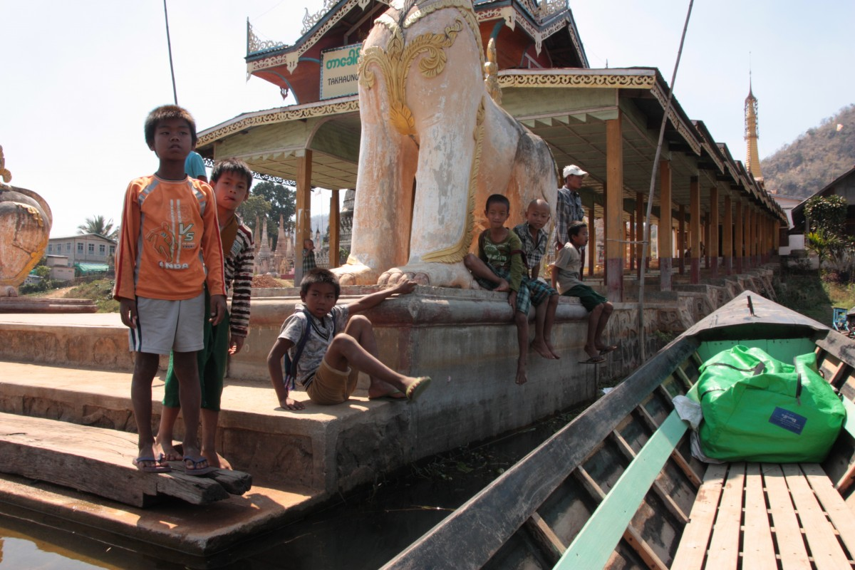 The Lake: Tharkong pagoda 'and for some reason lots of children hanging around'