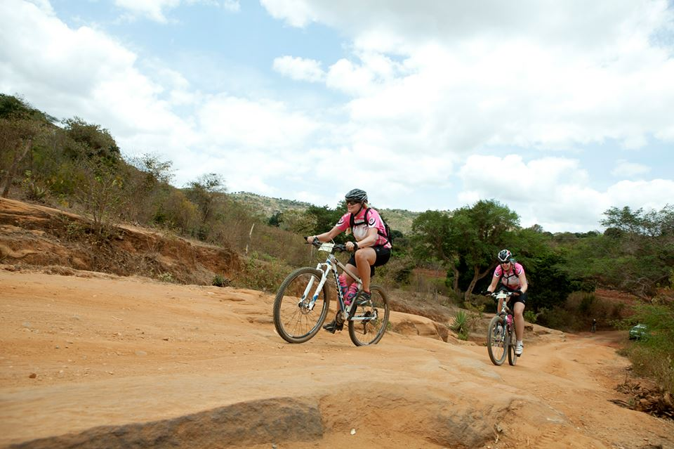 Mountainbikes on the dirt tracks. ©Annajo.