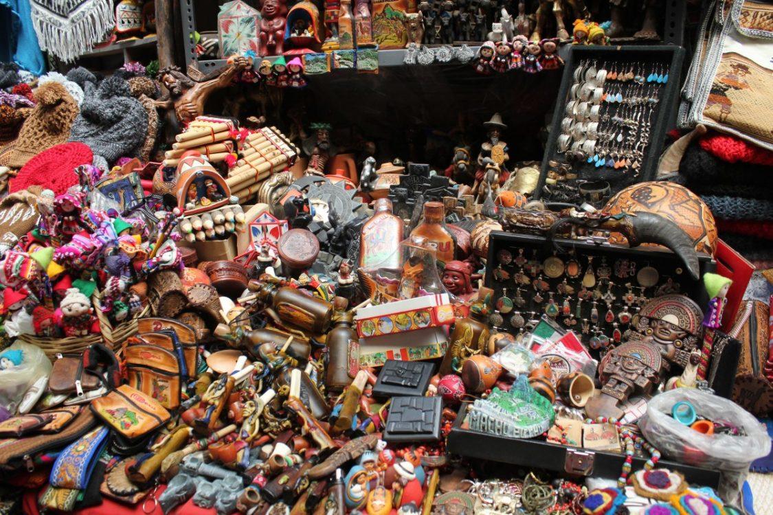 Souvenir stall Peru.
