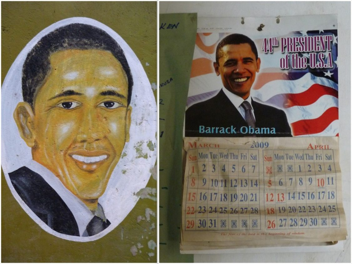 Obama portraits in Kenya. ©Bunch of Backpackers