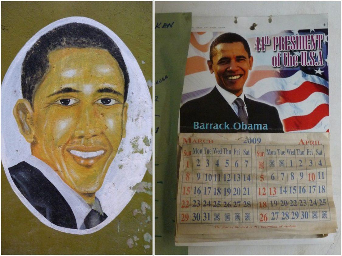 Obama portraits in Kenya. ©Bunch of Backpackers