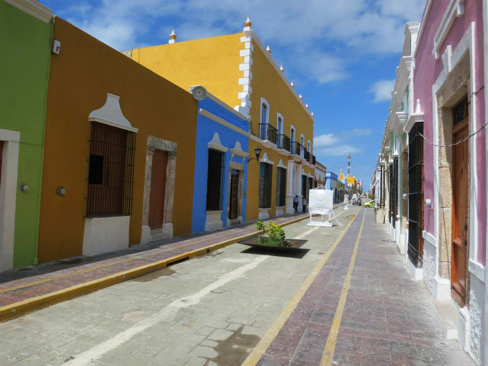 A colored street in Campeche, Mexico. ©Bunch of Backpackers