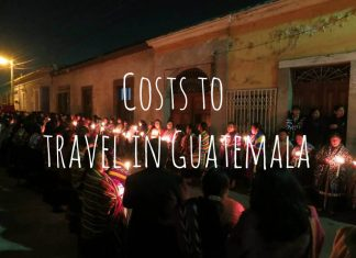 Costs to travel in Guatemala