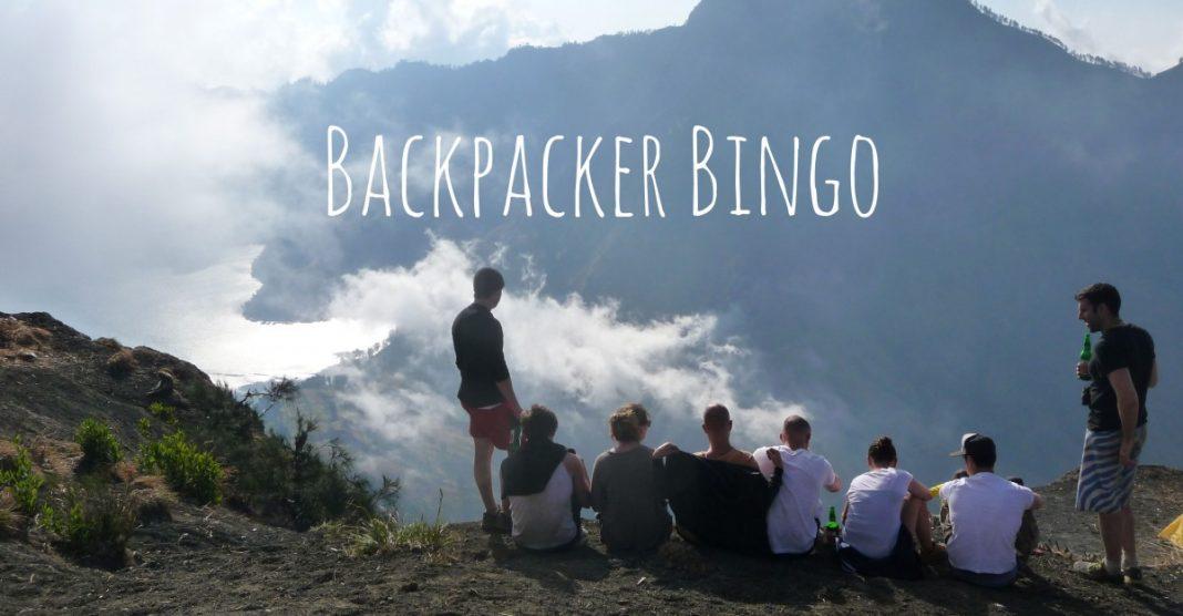 Funny Backpacker Bingo