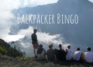 Funny Backpacker Bingo