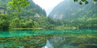 Mirror lake Jiuzhaigou. Copyright Bunch of Backpackers.