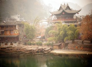 Wooden house in Fenghuang.