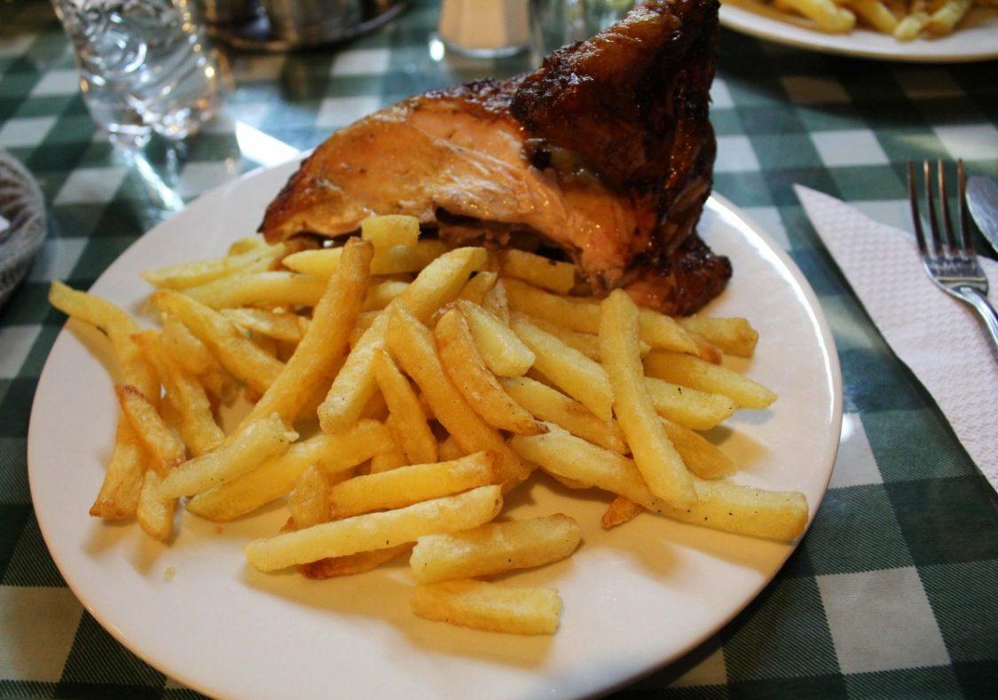 Polla a la brasa
