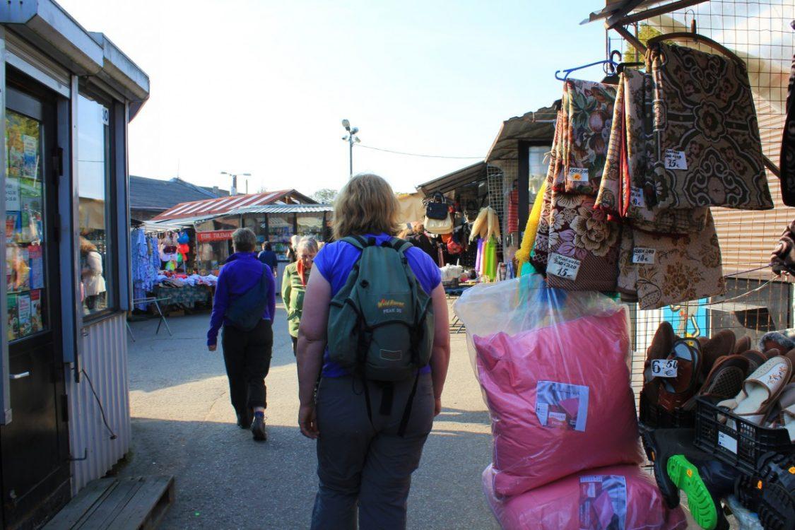 Exploring the Russian flea market. ©Bunch of Backpackers.