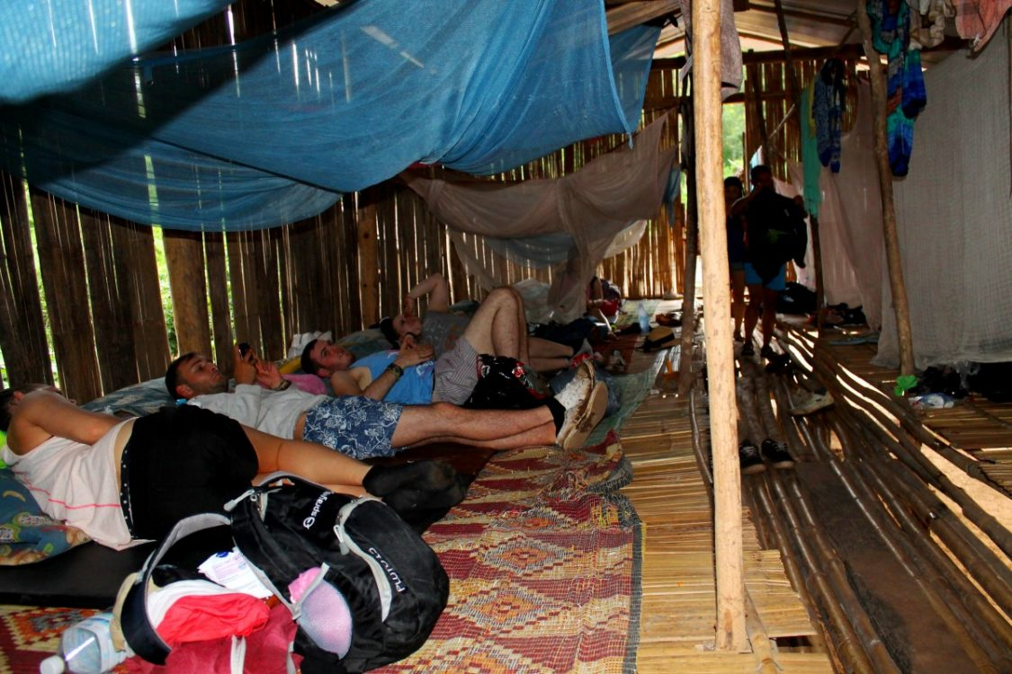 Sleeping in the hut. ©Crazzzy travel.