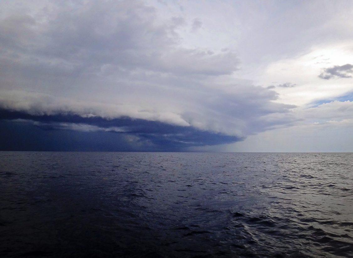 Shelf Cloud off Florida. ©JS Sailing.