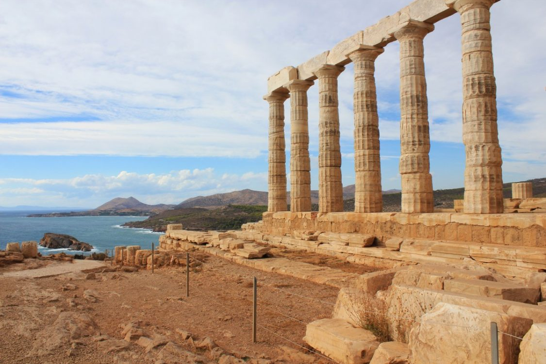Cape Sounion Temple of Poseidon bus