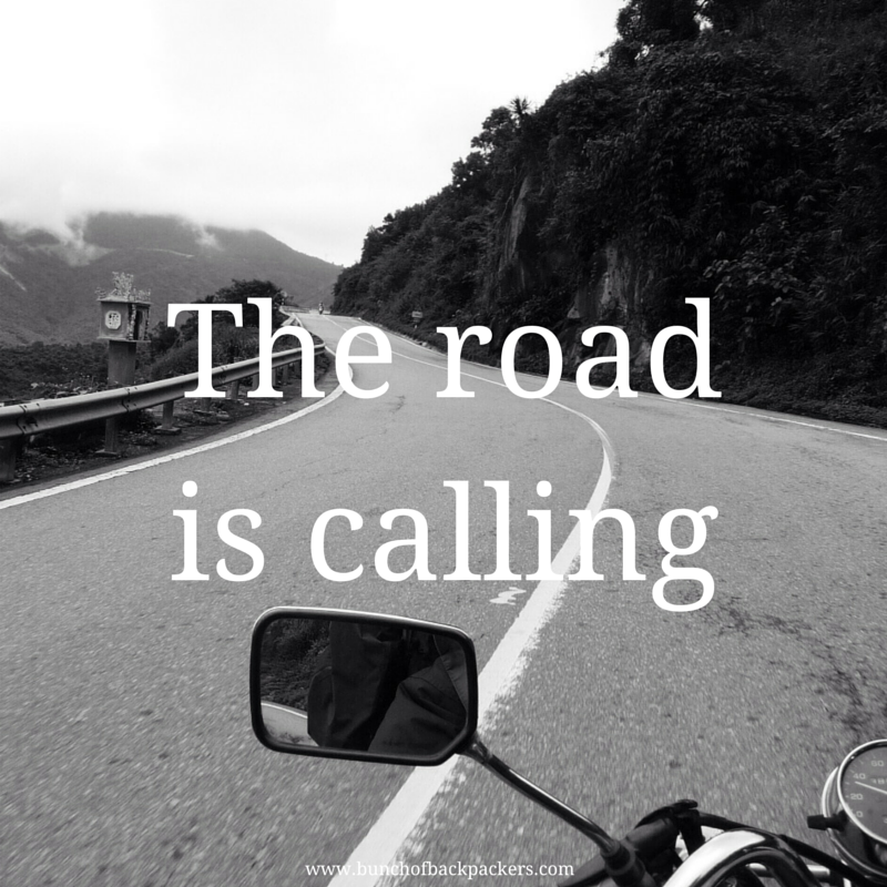 The road is calling travel quote