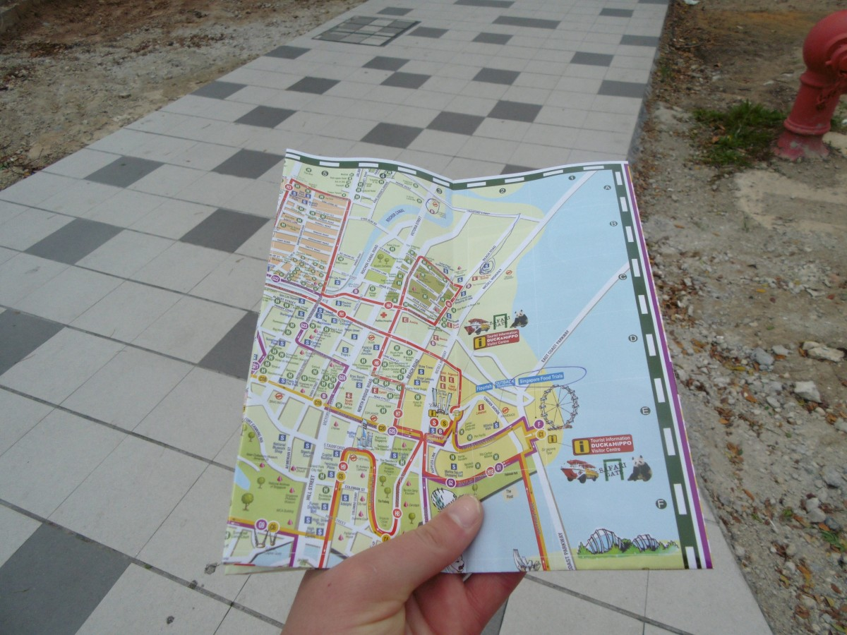 Money saving by walking around with a local map. ©Abbi Morrison / Life In A Rucksack