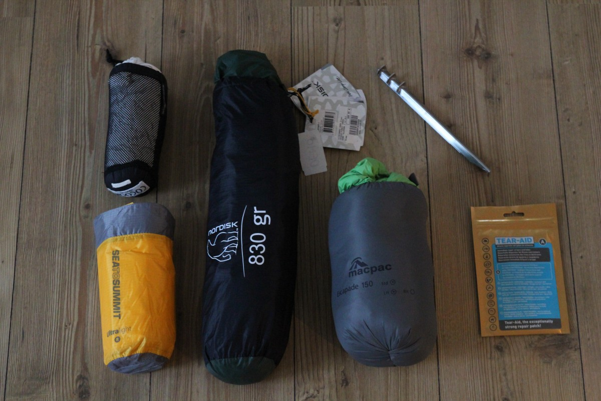 Camping gear - Packing list 6 months of backpacking. ©Bunch of Backpackers