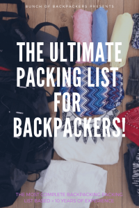 Packing list backpacking Africa Asia (1)