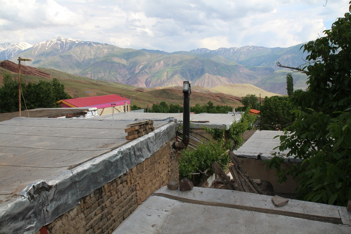 Best hostels Iran View from the Khoorsaran Guesthouse in Gazor Khan, Alamut
