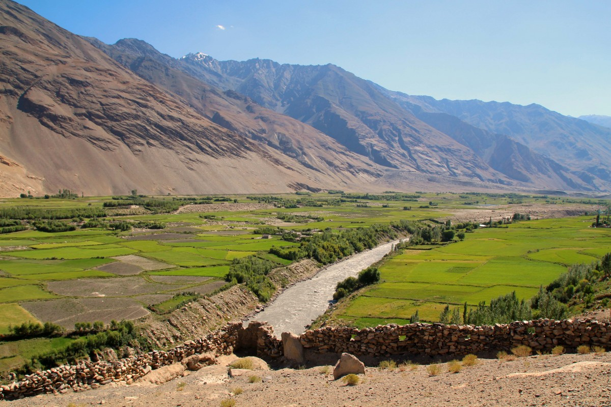 Wakhan Valley in Tajikistan.