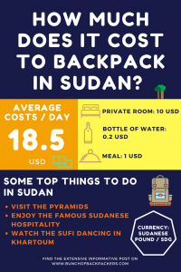 costs of backpacking sudan