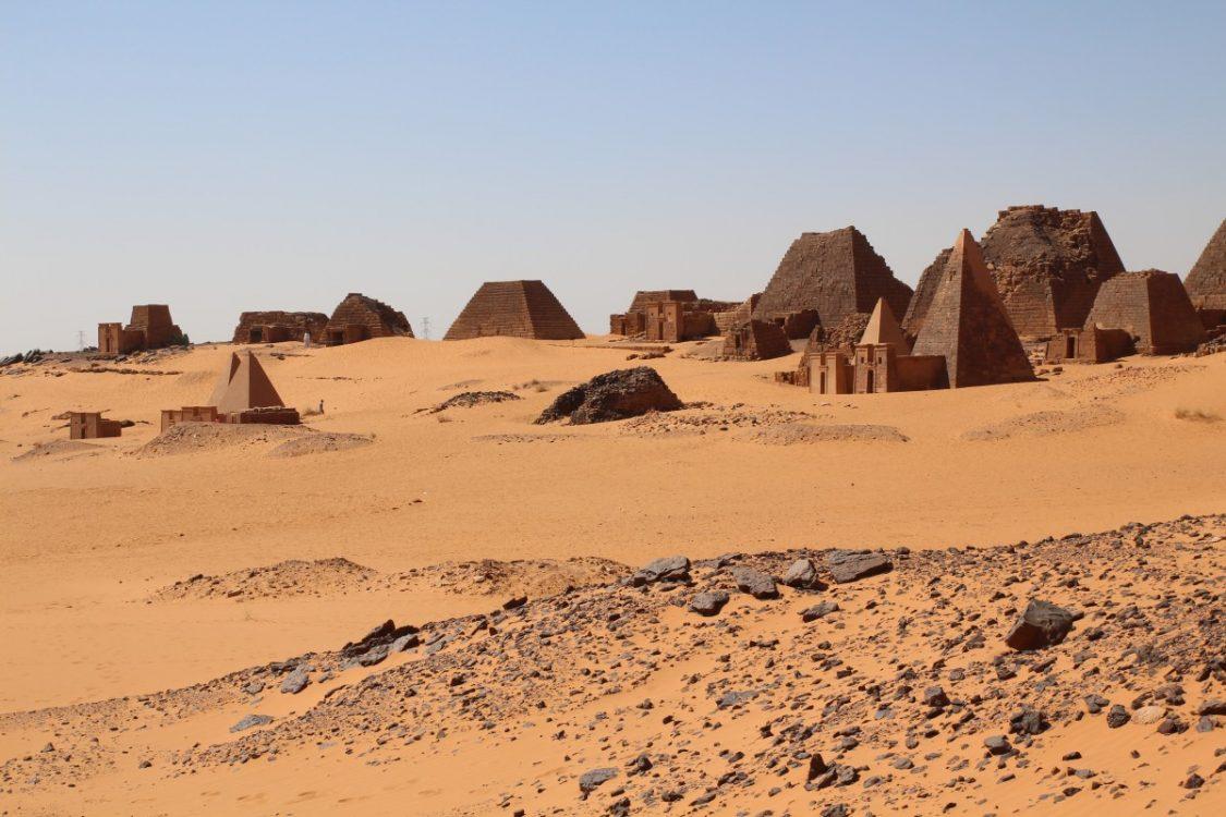 Meroe pyramids Sudan.