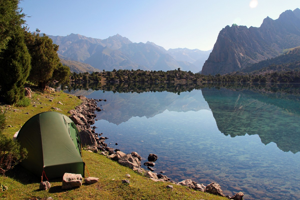 Camping Nordisk Telemark 1 ULW in Tajikistan. Best Backpacker Tent.