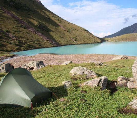 Camping Nordisk Telemark 1 ULW in Tajikistan. Best Backpacker Tent