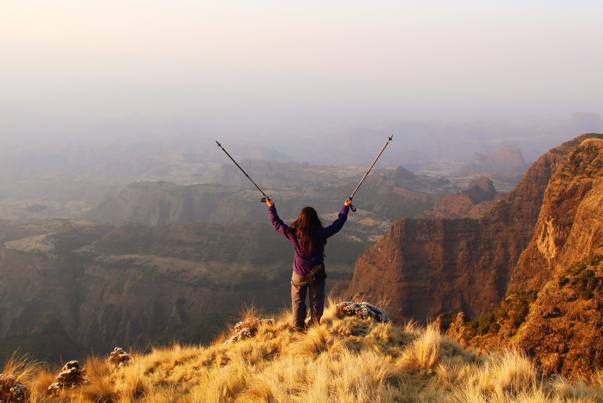 Backpacking Ethiopia.
