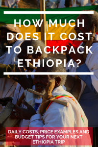 Costs of backpacking in Ethiopia 2