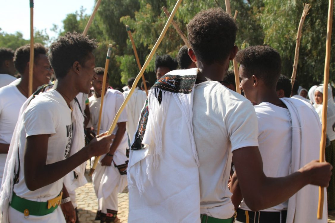 Dancing at the Timkat Festival in Aksum, Ethiopia