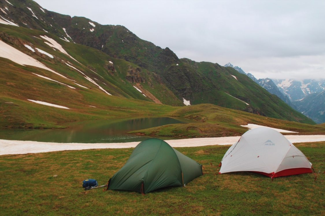 Camping at the Kuraldi Lakes. Hiking Svaneti Mestia