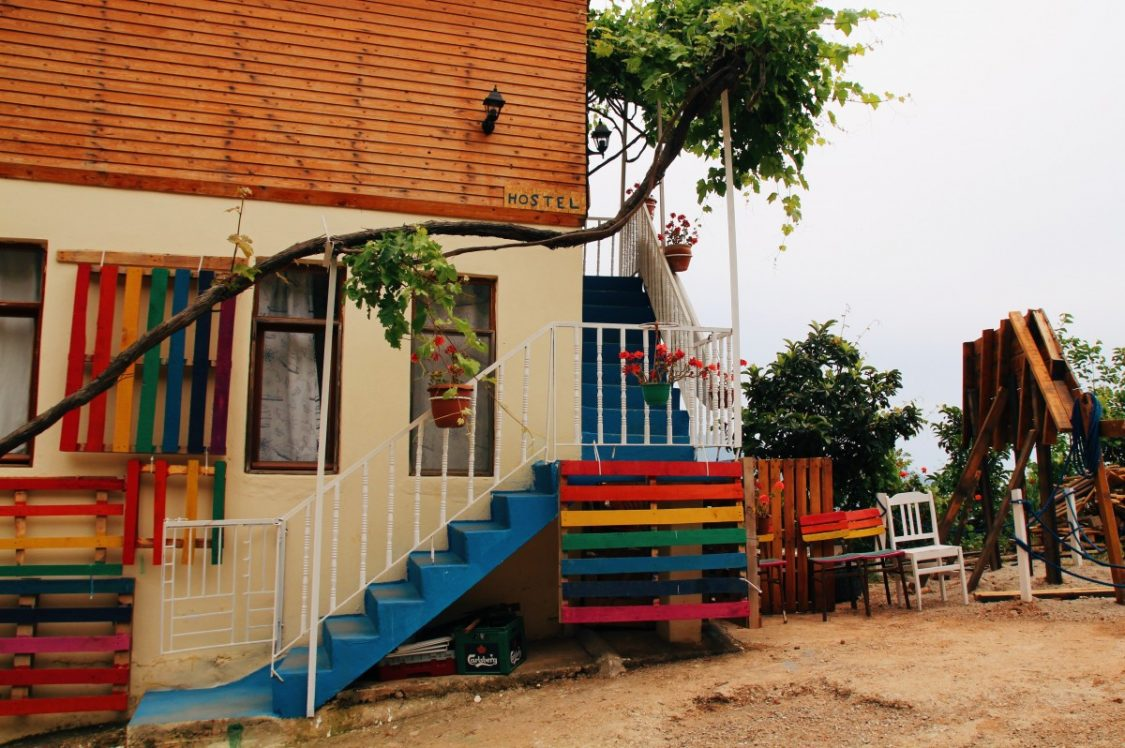 Cute, colorful mama hostel in Kabak, Turkey