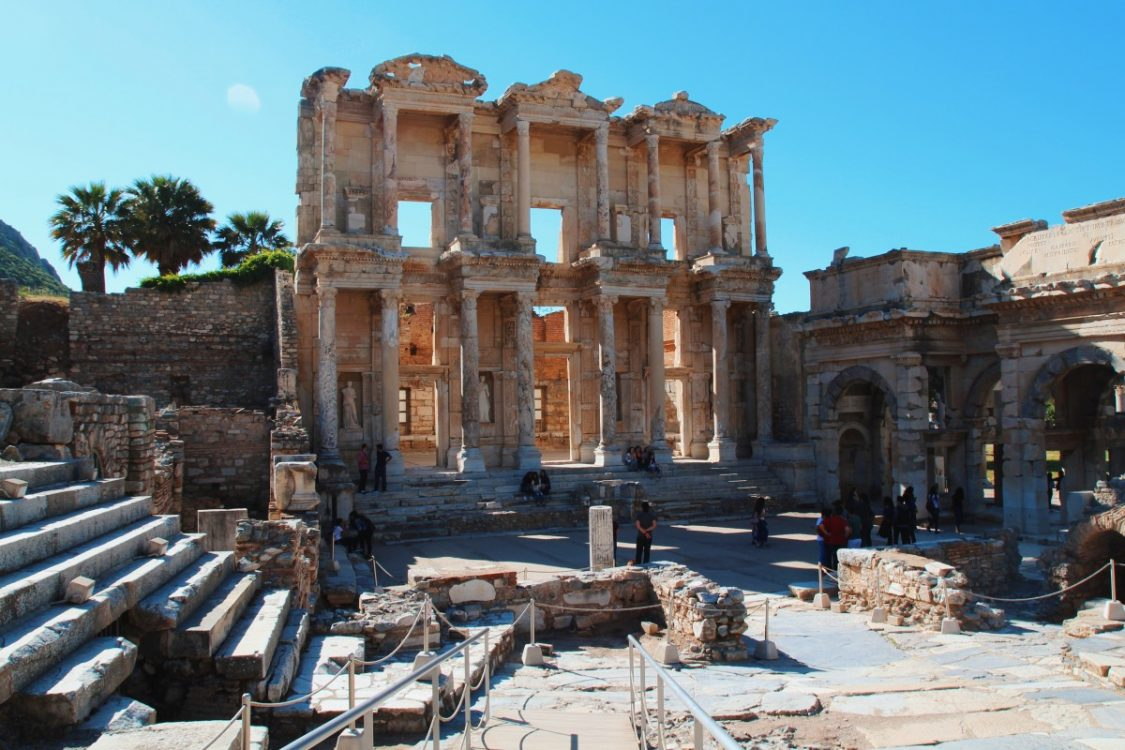 Ephesus Library - Turkey Backpacking.