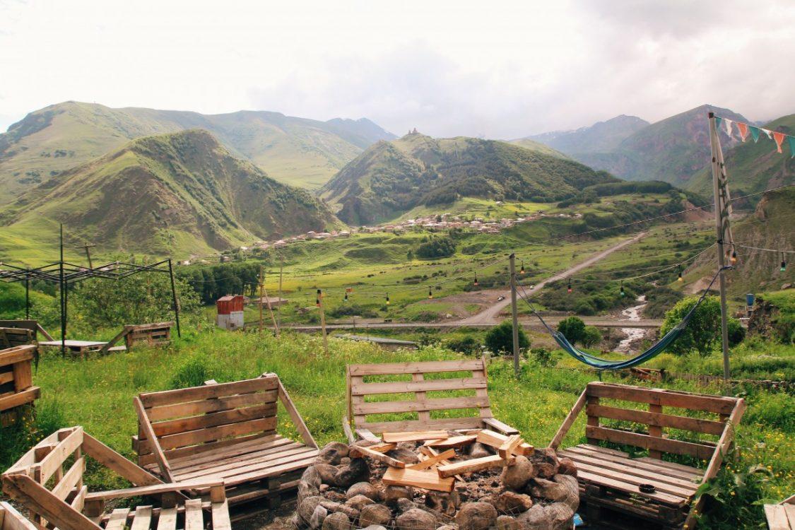 Kuro camping in Kazbegi