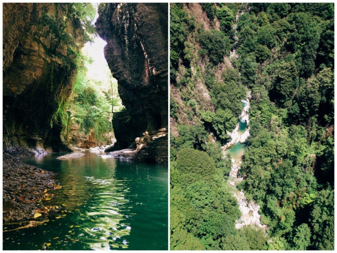 Okatse canyon and Martvili canyon