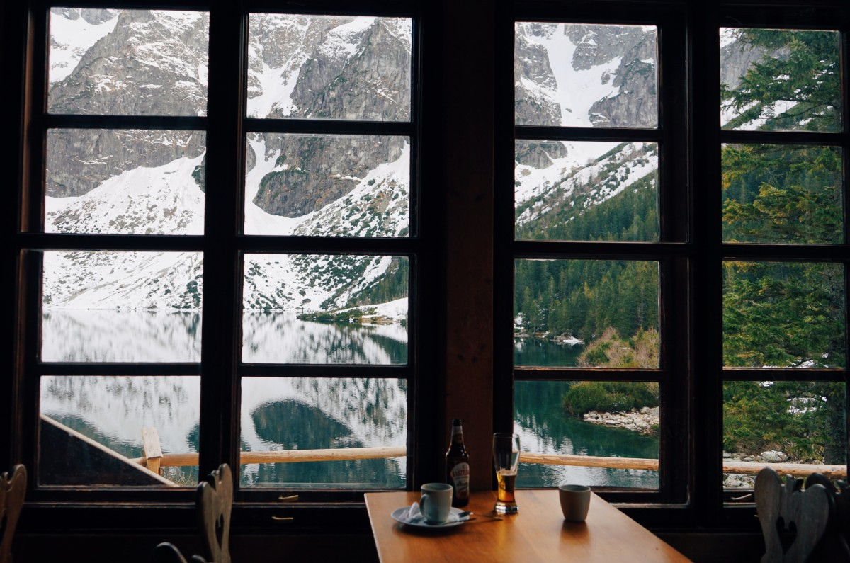 Enjoy the view on Morskie Oko from the mountain hut cafe.