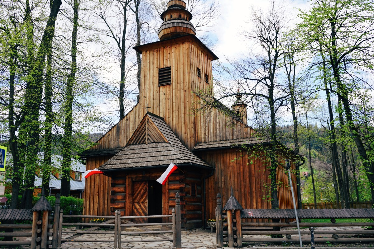 Traditional church in Zakopane, Poland
